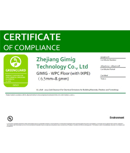 Certificate_GIMIG - WPC Floor (with IXPE)(6.5mm~8.5mm)